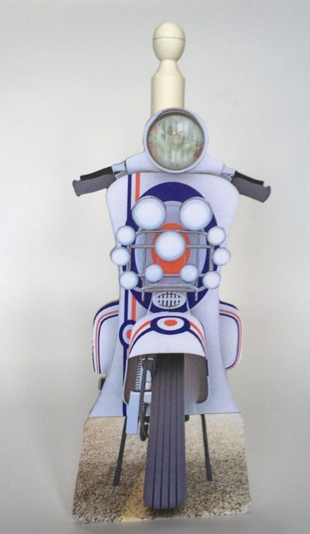 Mod Scooter Spare Toilet Roll Holder